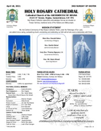 Holy Rosary Bulletin 04-18-2021