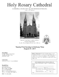 Holy Rosary Cathedral Bulletin 2017-08-27