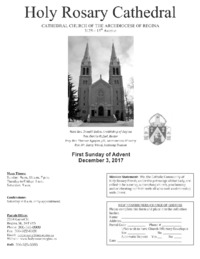 Holy Rosary Bulletin 2017-12-03