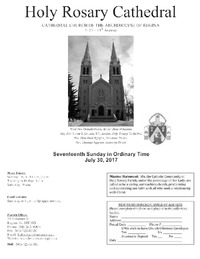 Holy Rosary Cathedral Bulletin 2017-07-30