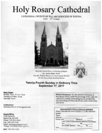Holy Rosary Cathedral Bulletin 2017-09-17
